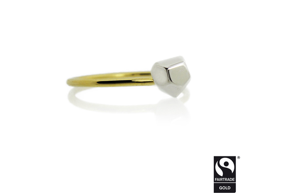 Fairtrade Fairmined Gold Asteroid ring by Amanda Li Hope
