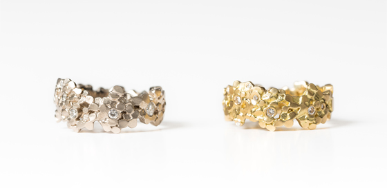 Wide Crown Rings by Mirri Damer