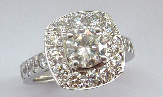Large vintage diamond ring by Sophie Breitmeyer