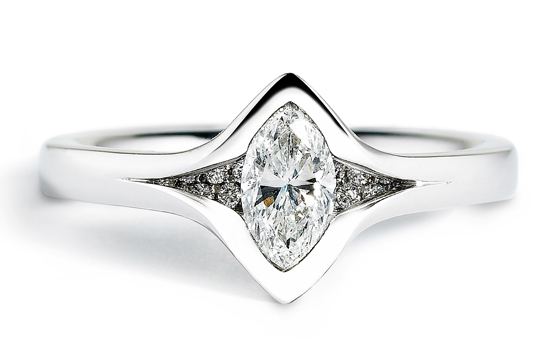 Reveal Marquis 50pt Diamond Ring by Andrew Geoghegan