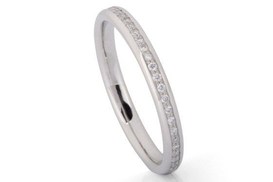 Channel setting ring by James Newman