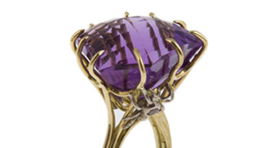 Prong setting ring by Susan Peires