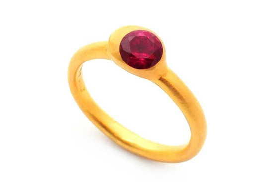 Gold Ruby Ring by Mabel Hasell