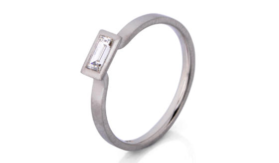 Baguette princess cut diamond by James Newman