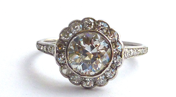 Cluster platinum ring by Sophie Breitmeyer