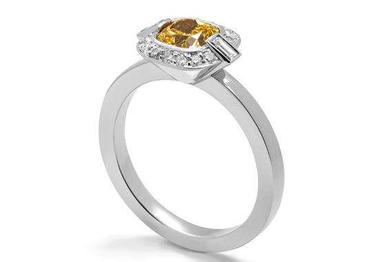 Yellow diamond ring by Amanda Mansell