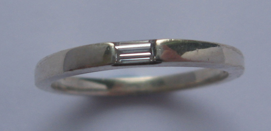Baguette ring designed by David McLoughlin