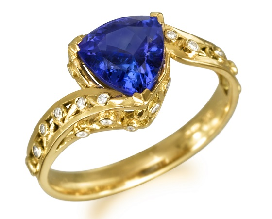 Blue Engagement Ring by Fei Liu