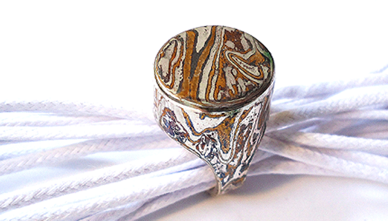 Mokume-gane ring by MAURO CATEB, used under a Creative Commons licence (http://creativecommons.org/licenses/by/2.0/legalcode)