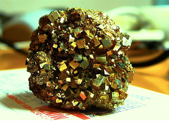 pyrite by pnjunction2007, used under a Creative Commons licence (http://creativecommons.org/licenses/by/2.0/legalcode)