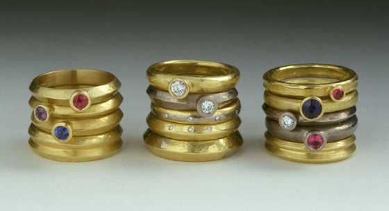 Rings by Handmade in Britain 14: Spring Edition participant Catherine Mannheim