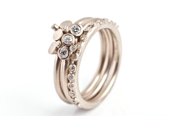 Engagement ring by Goldsmiths' Fair exhibitor Mirri Damer