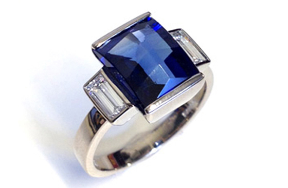 Art Deco and Sapphire Diamond Ring by new F&L member Beth Gilmour