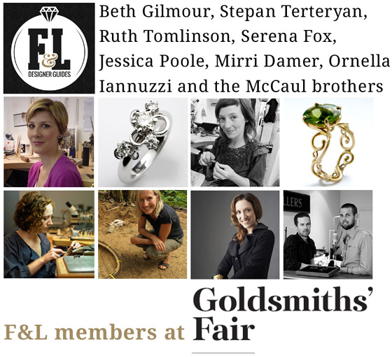 F&L's members exhibiting on this year's Goldsmiths' Fair.