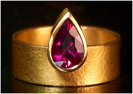Rubellite Ring by Shivani Patel