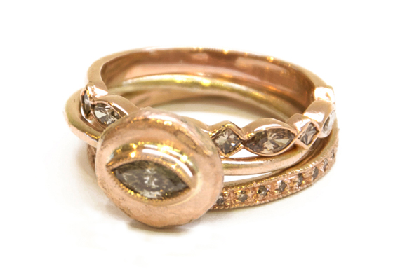 Rose Ring Stack by Mia Chicco