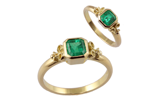 Jana Reinhardt's emerald engagement ring encapsulates the beauty of bespoke.