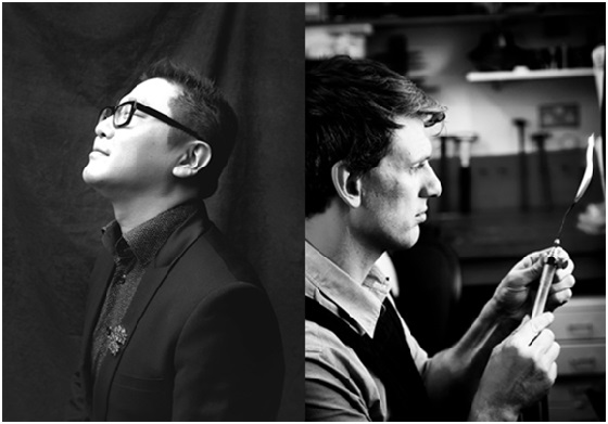 Fei Liu and James Newman, two F&L members working in Birmingham's Jewellery Quarter