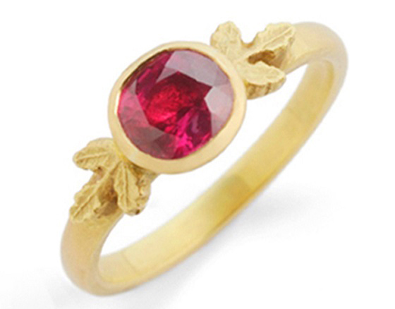 18ct yellow gold and Ruby Ring by Beth Gilmour