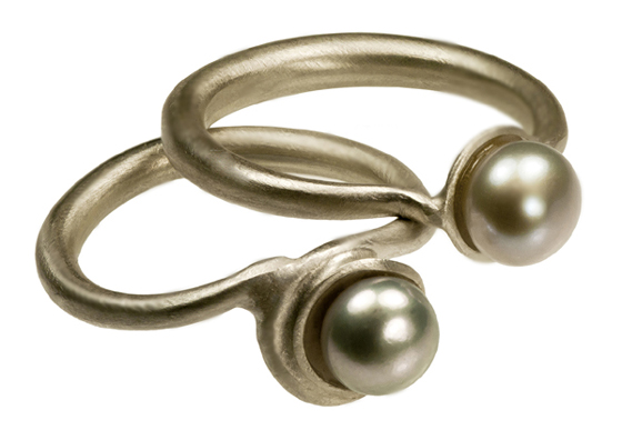 Pearl Rings by Farah Qureshi