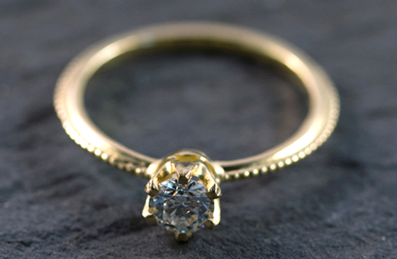 Delicate Solitaire Diamond by Mairi Burrow