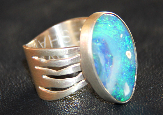 Opal Ring by Maria Thompson